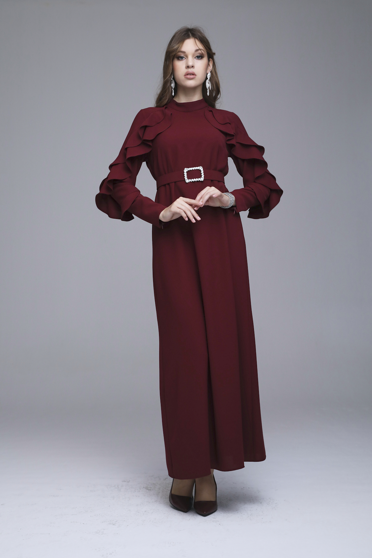 Abronıa Elbise Bordo 3228w21