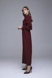 Abronıa Elbise Bordo 3228w21 - Thumbnail