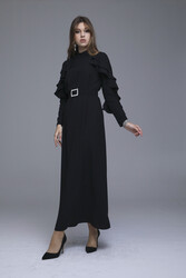 Abronıa Elbise Siyah 3228w21 - Thumbnail