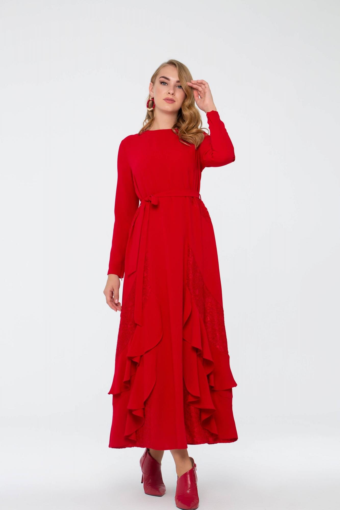 Bihterin Elbise Kırmızı 3025W19
