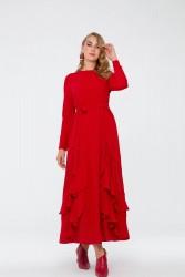 Bihterin Elbise Kırmızı 3025W19 - Thumbnail