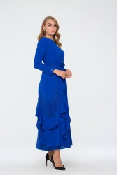 Bihterin Elbise Saks 3025W19 - Thumbnail