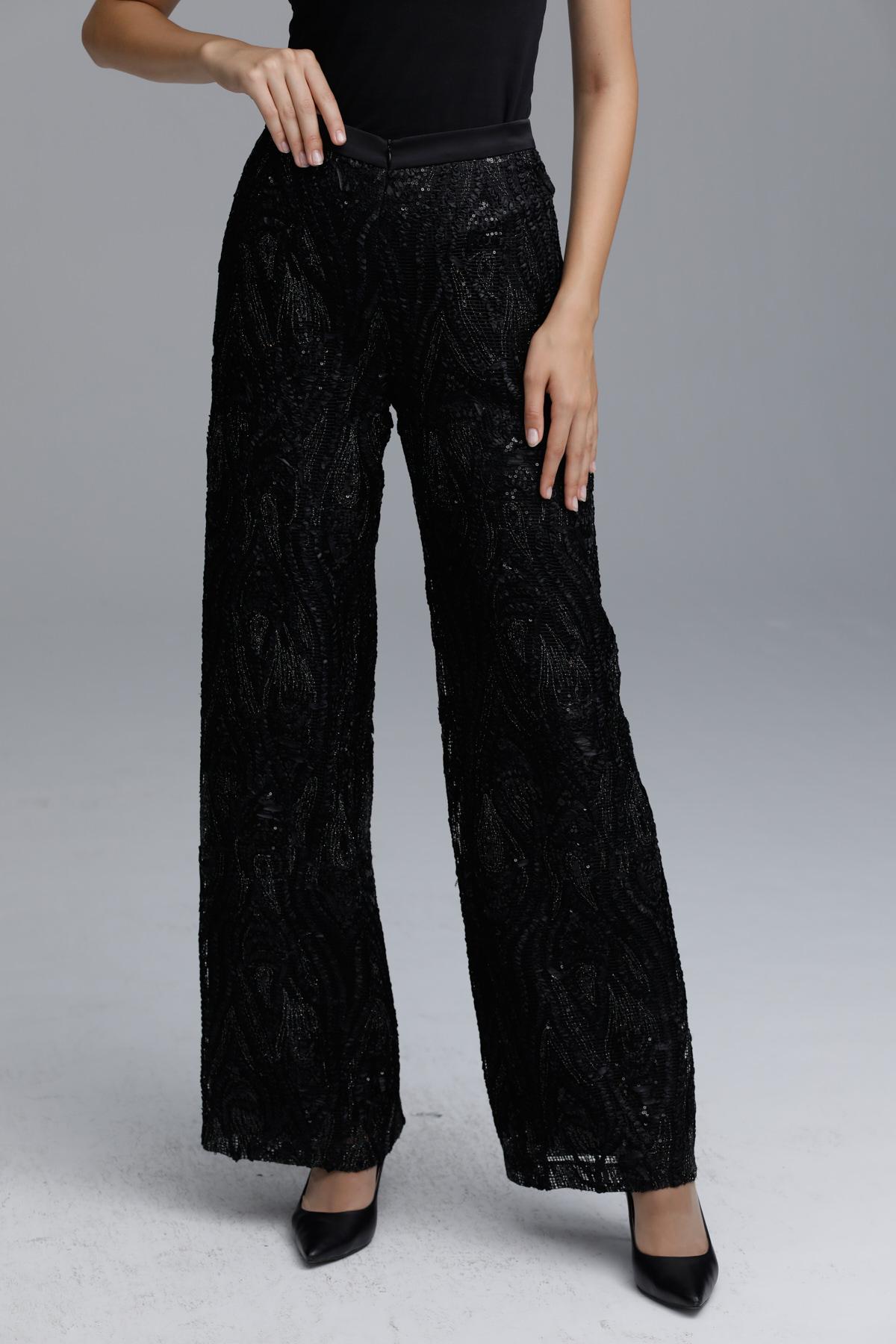 Bordado Pantolon Siyah 5213w21