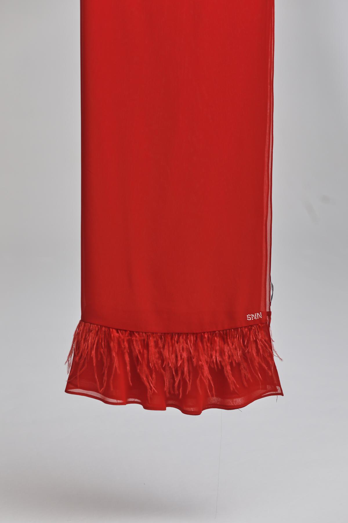 Flame Şal Kırmızı 1005w21