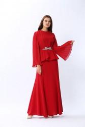 Grace Elbise Kırmızı 3129w20 - Thumbnail