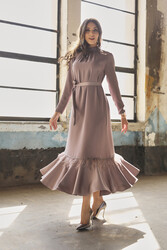 Hercaı Elbise Koyu Lilyum 3240w21 - Thumbnail