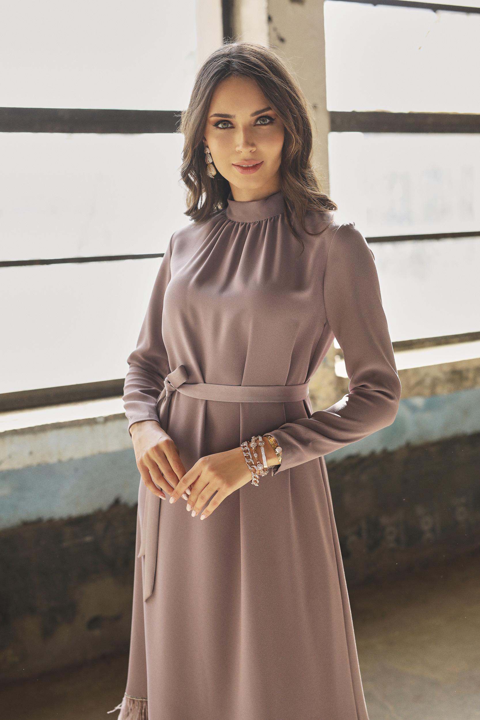 Hercaı Elbise Koyu Lilyum 3240w21