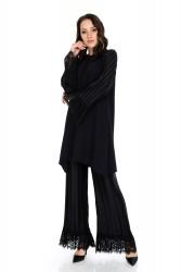 Leyal Pantolon Siyah 5004W9 - Thumbnail