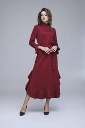 Lizda Elbise Bordo 3266w21 - Thumbnail