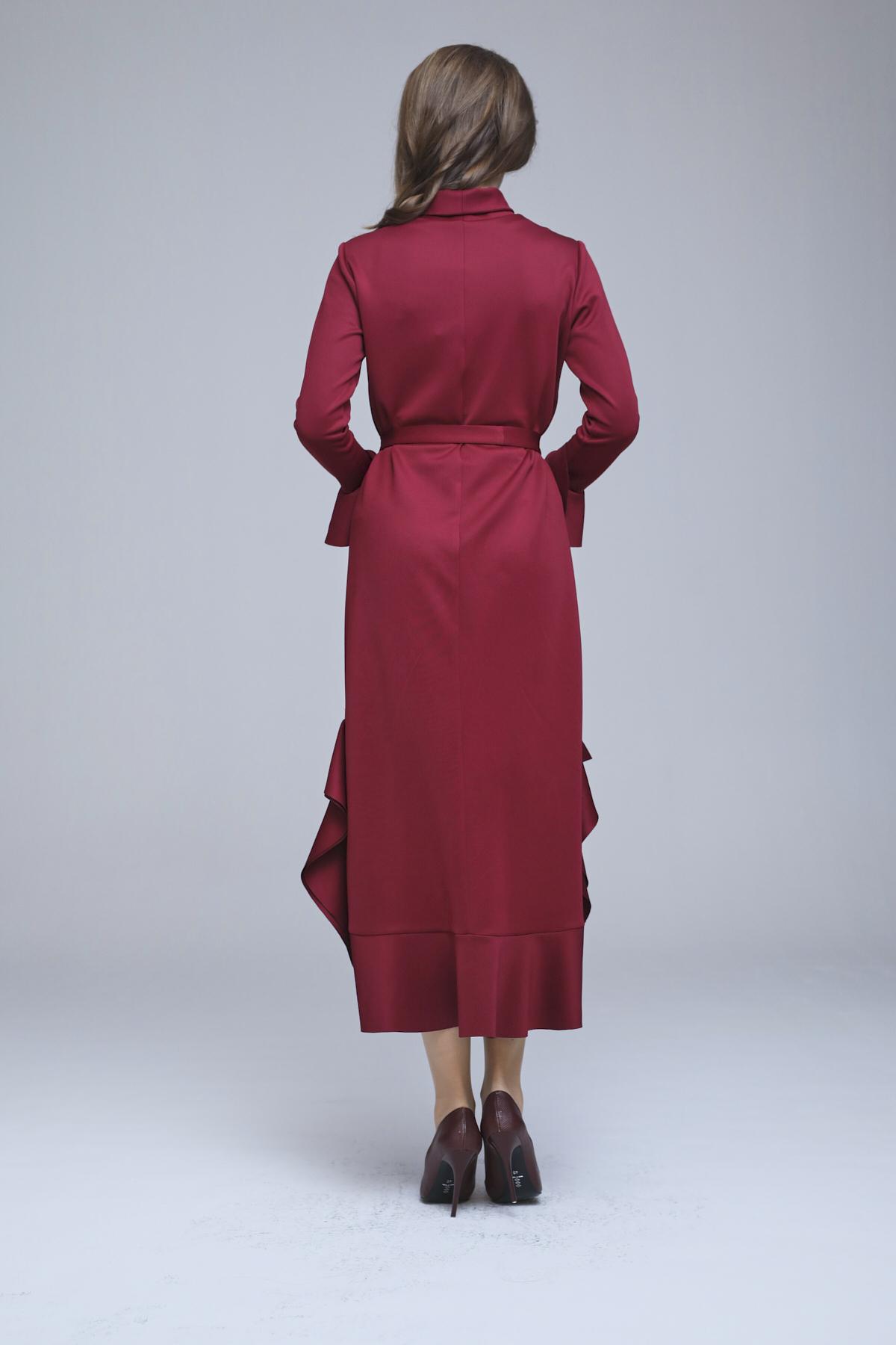Lizda Elbise Bordo 3266w21