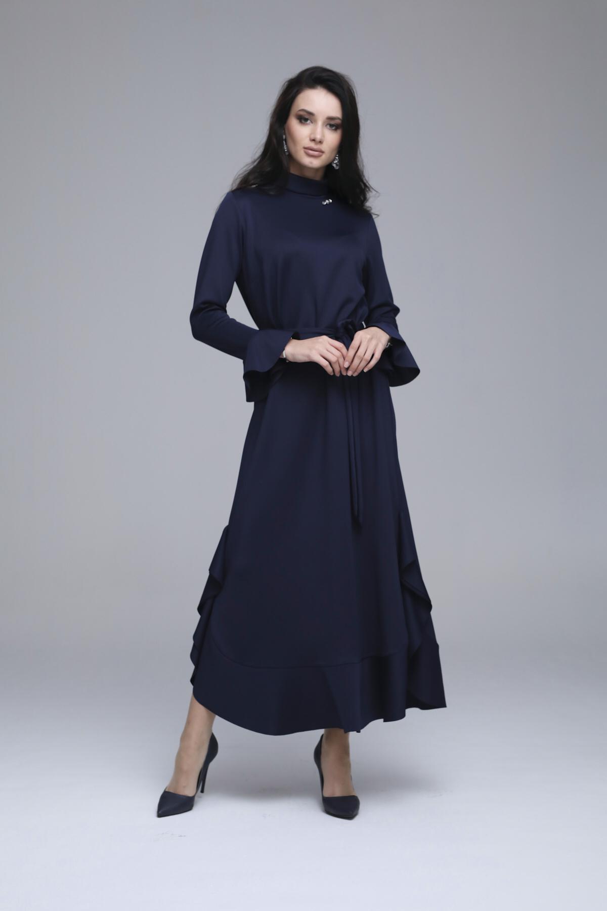 Lizda Elbise Lacivert 3266w21