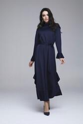 Lizda Elbise Lacivert 3266w21 - Thumbnail