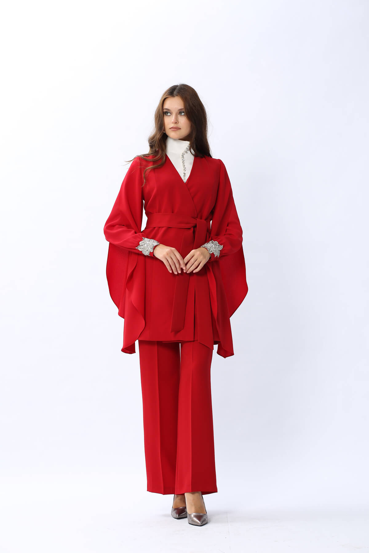 New Angelique Ceket Kırmızı 4130w20