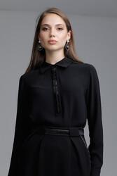 Olina Gömlek Siyah 2208w21 - Thumbnail