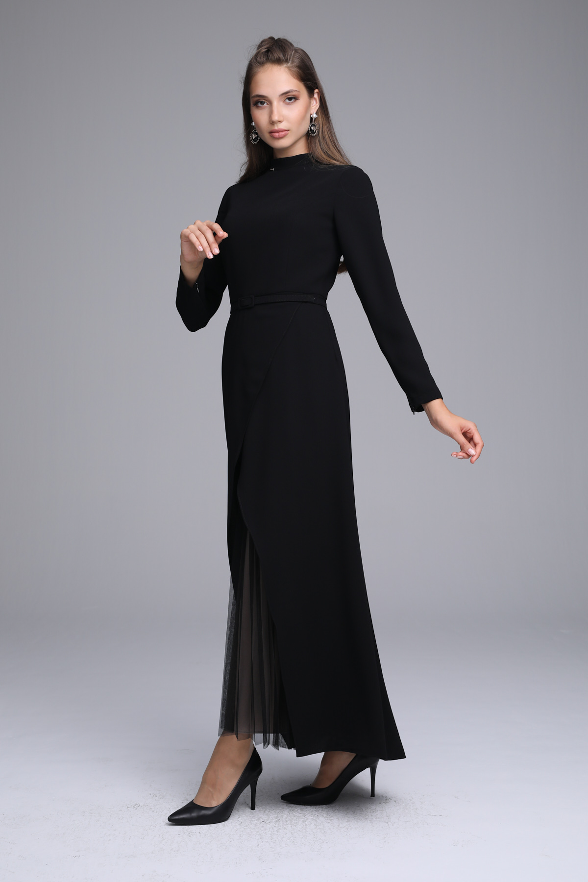 Olivia Elbise Siyah 3215w21