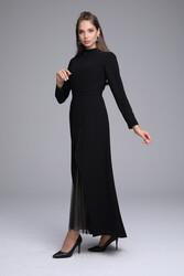 Olivia Elbise Siyah 3215w21 - Thumbnail