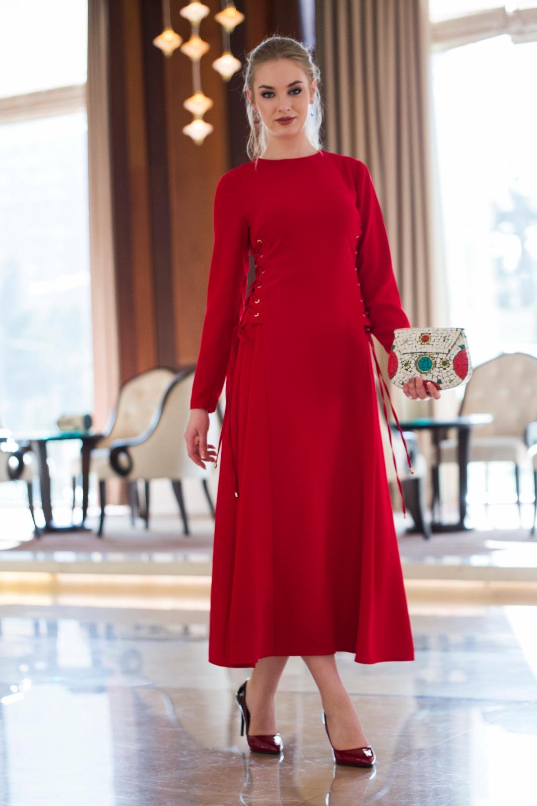 Peren Elbise Kırmızı 3034W19