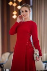 Peren Elbise Kırmızı 3034W19 - Thumbnail