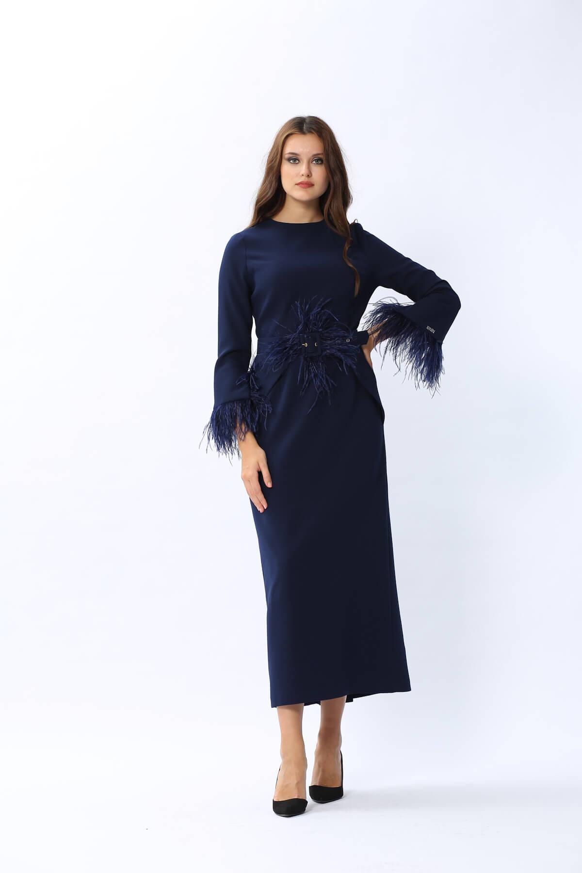 Plume Elbise Lacivert 3119w20