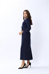 Plume Elbise Lacivert 3119w20 - Thumbnail