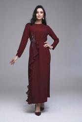 Selecta Elbise Bordo 3224w21 - Thumbnail