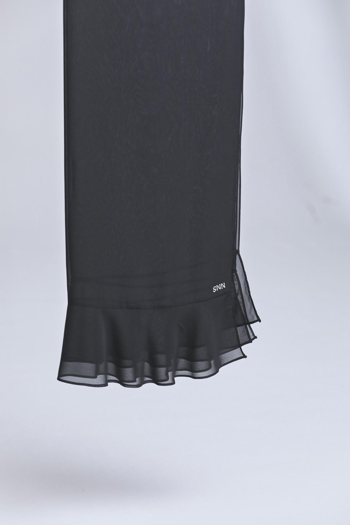 Volanlı Şal Siyah 1003w21