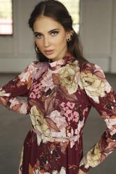 Winds Elbise Bordo 3244w21 - Thumbnail