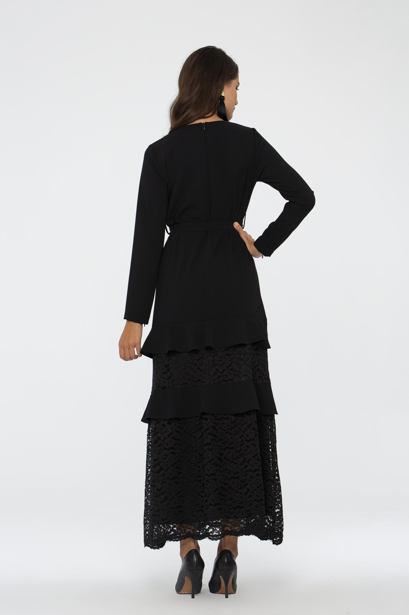 Zümrüt Elbise Siyah 3003W19