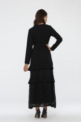 Zümrüt Elbise Siyah 3003W19 - Thumbnail